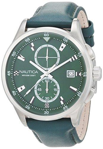 Nautica Reloj Analógico para Hombre de Cuarzo con Correa en Cuero 0656086081244