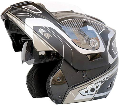 Bluetooth de la motocicleta Casco, de tipo modular de doble volteo visera del casco completo, el DOT certificado Casco, incorporado en MP3 FM Broadcast Integrado de intercomunicación Sistema de comuni ⭐