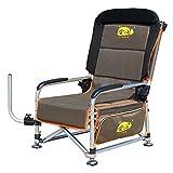 GG-Fishing chair Silla de Pesca portátil   Sillón reclinable de Alta Resistencia para Camping XL   Piernas Ajustables   Ideal para Equipos de Pesca de la Carpa - de Color Caqui