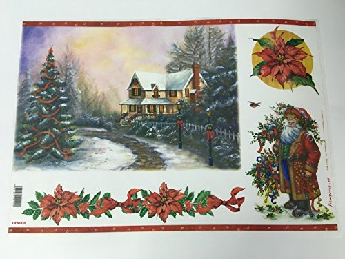 Foglio Di Carta Di Riso 48×33 Cm 28 G Decoupage DFS008 Natale
