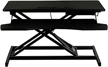 Gaming Computer Desk Standing Desk Converter, 32 X 16 Inches Height Adjustable Quick Sit to Stand Up Desk Riser for Dual Moni