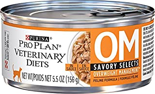 Purina OM Savory Select Overweight Management Cat Food (24 - 5.5oz cans)