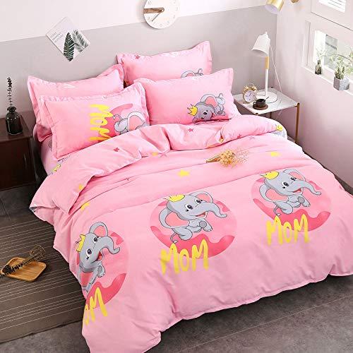 YATEN Warm, bequem, für nackten Schlaf geeignet, waschbar,Gebürstete vierteilige Decke aus...