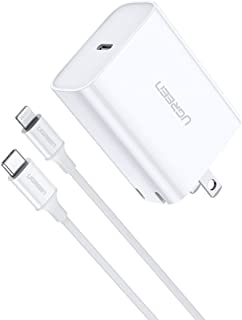 UGREEN USB C Charger 18W Power Delivery with USB C to Lightning Cable Type C Wall Charger for iPhone 11 Pro Max Xs Max XR X 8 Plus 7 6 Plus, iPad Pro