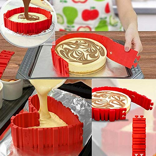 BITA 4 Pcs/set Silicone Bakeware Magic Cake Mold Diy Baking Square Rectangular Heart Shape Round Mould Pastry Tools