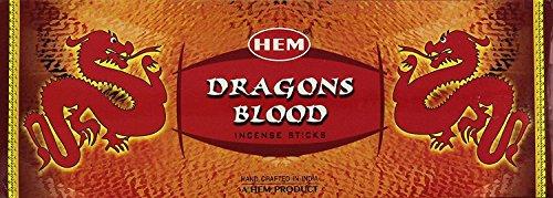 Hem, scatola di incensi, confezione da sei scatole, 120 bastoncini Dragon's Blood