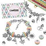 Cheer4bee Charm Armband Kit DIY - Geschenk für Mädchen Teens, Basteln Mädchen Personalisierte...