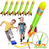 Toy Rocket Launchers for Kids-Outdoor Toys for Boys with 6 Foam Air Jump Rockets-Perfect Sports...