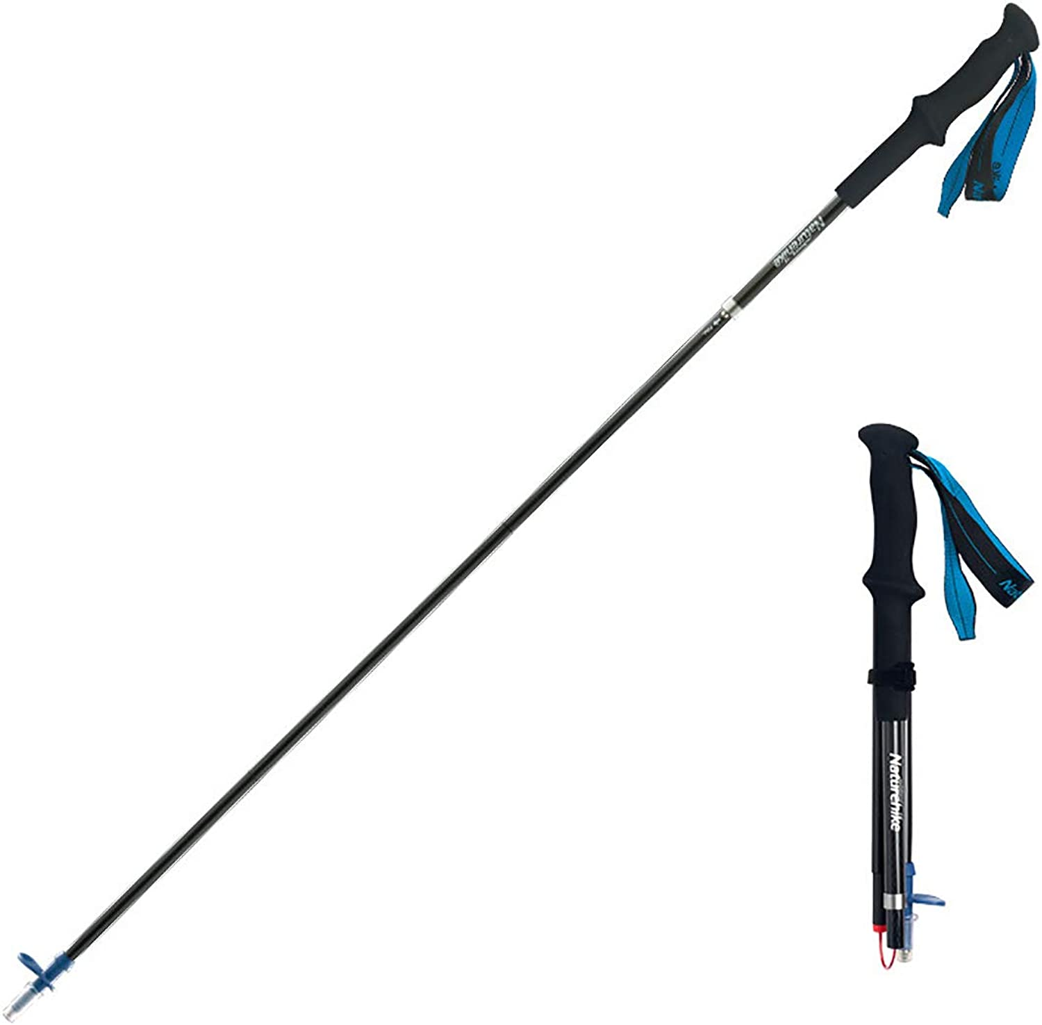 Trekking Pole Carbon Fiber Material Ultra-Light Four-Section Folding Telescopic Convenience Can Be Used As A Cross-Country Walking Stick