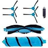 7pcs/set Side Main Roll Brush Replacement Parts Accessory Kit Compatible With 3490 4090 5090 & STYJ02YM Series Robotic Vacuum Cleaner Roller Brush