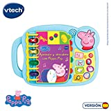 VTech- Aprendo y Descubro con Peppa Pig Libro Infantil Que Enseña El Abecedario y Nuevas Palas, Multicolor, Talla Única (3480-518022)