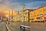 N/X Rompecabezas Grande de Madera para Adultos 1000 Piezas de Alta dificultad paraaliviar la presión Los Adolescentes desarrollan dones intelectuales creativos Roma