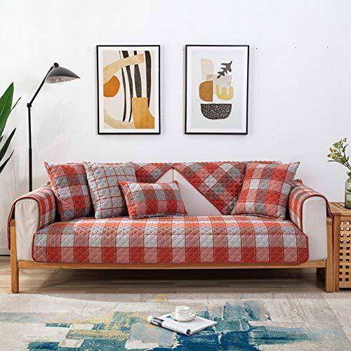 Homeen Funda de cojín de algodón cómoda para sofá, funda de sofá de 1/2/3/4 plazas, funda de sofá de tela jacquard para 4 estaciones, 70 x 70 cm