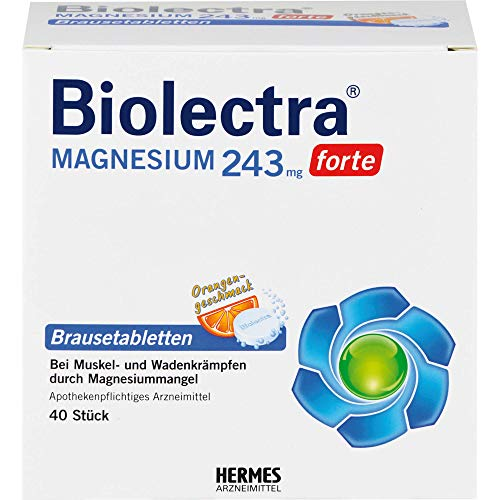 Biolectra Magnesium 243 mg forte Orange Brausetabletten, 40 St. Tabletten