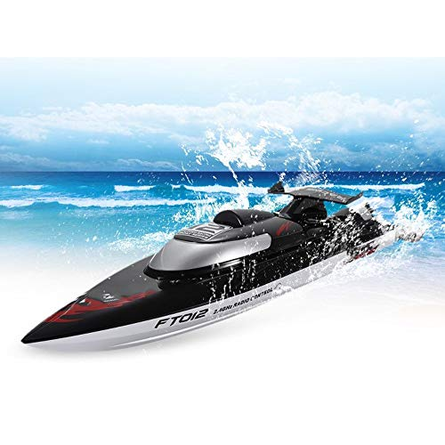 QWERTOUY RC Boats 2.4G 4CH Brushless Racing Boat Triple Cover High Speed 45 km/h RC boot met systeem waterkoeling, speelgoed