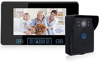 2.4G Wireless Video Door Phone Doorbell Intercom System 7-inch Color Monitor and IR Night Vision Camera Video Doorbell Kit...