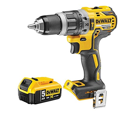 Dewalt DCD796N 18v XR Brushless Compact Combi Drill with 1 x 5.0Ah Battery DCB184, 18 V