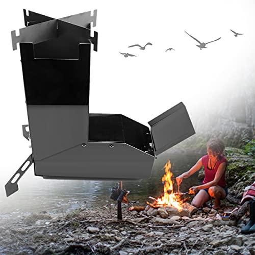 HAIT Estufa Rocket Estufa Portátil De Leña para Acampar Plegable Compacta Y Versátil para Cocinar Al Aire Libre Camping Picnic Barbacoa Caza Pesca