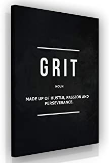 Grit Noun Office Decor Wall Art Motivational Canvas Print Entrepreneur Definition Inspirational Wall Art Hustle Passion Quote Inspiration Modern Framed Artwork Sign Decoration (36