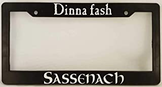 ClustersNN Bhartia Dinna Fash Outlander Themed Chrome License Plate Frame Stainless Metal Tag Holder 12