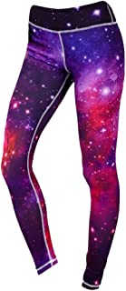 Baosity Women's Ankle Length 3D Print Yoga Leggings Exercise Workout Pants Gym Tights, Moisture-Wicking and Breathable