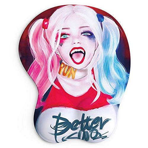 Ergonomic Mouse Pad with Wrist Support Gel Computer Japan Anime Mouse Pads Cute Anime Mouse Pad with Wrist Rest (3D-Queen)