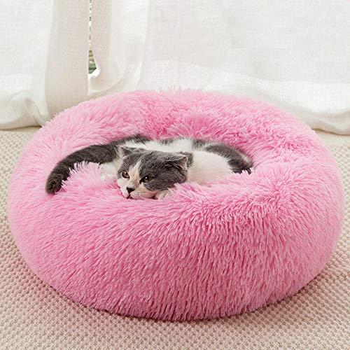 B/H Cama Perro Extra Grande Ortopédica,Mascotas,Arena para Gatos,Arena para Perros,Arena para Mascotas,Felpa,cálida y cómoda en Invierno-Bright Pink_40cm