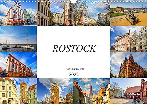 Rostock Impressionen (Wandkalender 2022 DIN A3 quer)