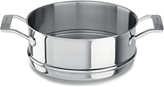 Kitchenaid Cocina al Vapor Uso para Olla, Acero Inoxidable, diámetro 24cm, Plata, 24cm