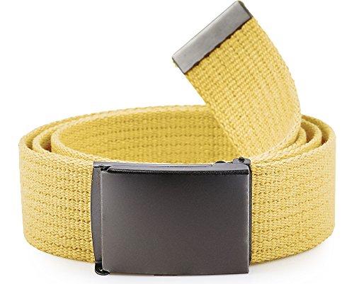 Cinturón amarillo en Tejido para Hombre (130 cm)