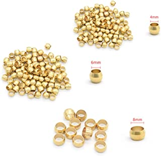 10Pc Brass Double Taper Ferrule 4 6 8 10Mm OD Compression Sleeve Seal Ring Fittings Tube Centralized Lubrication 8mm