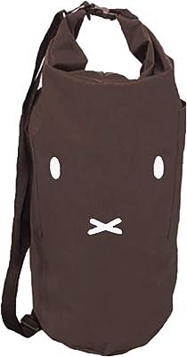 センコー ミッフィー ロールアップミッフィー ランドリーバッグ ブラウン 約直径30×高さ60cm(容量約30L) 65255