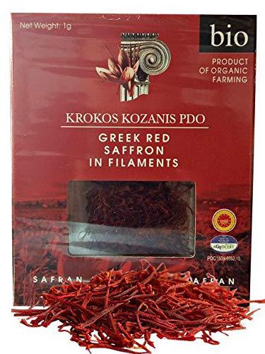 Krokos Kozanis Zafferano rosso greco biologico 1gx6
