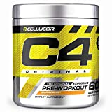 C4 Original Pre Workout Powder Orange Burst Sugar Free Preworkout Energy Supplement for Men & Women 150mg Caffeine + Beta Alanine + Creatine 60 Servings