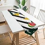 Camino de mesa de 200,7 x 33 cm, diseño de frutas de sandía, vegetal, comida vegetariana, decoración de mesa para boda, diseño de mantel, decoraciones al aire libre picnics mesa de comedor
