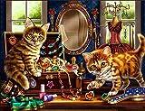 5D Peinture Au Diamant Art Photo Mur Décoration Animal Cadeau Peinture Bricolage Peinture Broderie Dresser Chat Mosaïque Point De Croix Cadeau Accueil Stickers Muraux