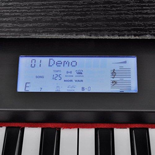 vidaXL Klassische Elektro 88-Tasten Digital Piano E-Piano Keyboard Klavier Notenablage - 5