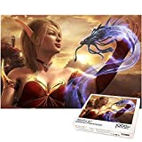 Rompecabezas de elfos de sangre para adultos 1000 piezas rompecabezas de descompresión de World of Warcraft juegos divertidos para padres e hijos regalo de cumpleaños (38x26cm)