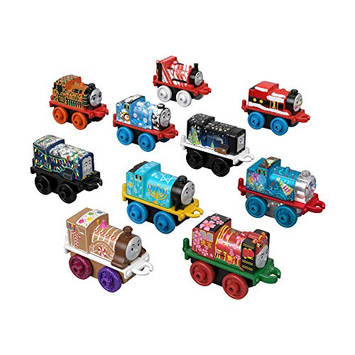 Thomas & Friends MINIS Toy Trains 10-Pack of characters with holiday season designs