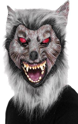 Maske Lauernder Wolf Über Kopf Latex, One Size