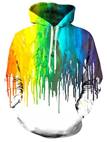 Bro Hoody Sweater Shirt 3D Realistic Printed Tie Dye Red Yellow Green Gay Pride Designer Warm Fleece Hoodie Sweatshirts with Drawstring for Womens Mens Crew Neck Jersey Clothes 80's Tracksuit Medium