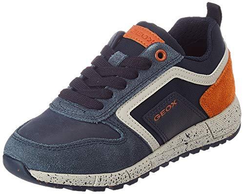 Geox J Alben Boy D, Zapatillas, Azul (Navy/Orange), 30 EU