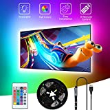 Striscia LED USB 3M,SHOPLED Retroilluminazione TV led RGB 5050 Strip lights con Telecomando per HDTV da 40-60 Pollici, PC Monitor