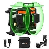 Kreuzlinienlaser TACKLIFE 3x360° Linienlaser, Grün, 40m, 3D Laser level mit 5200mAh Lithiumakku und USB Ladegerät,Selbstnivellierungslinienlaser mit Pulsfunktion, Schwenkbarer Magnethalterung-SC-L08