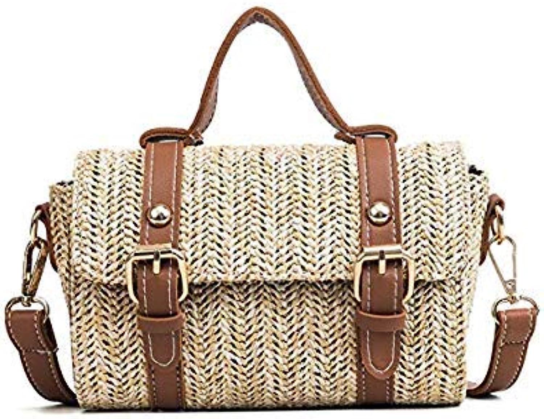 Bloomerang Summer Beach Bag Women Straw Bag Knitting Shoulder Bag for Women Tote Bags of Straw Bolsas Sac a Main Handbags bolsos women color Brown Bag