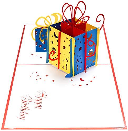 3D Geburtstagskarte – 2 bunte Geschenke – Pop up Karte, Glückwunschkarte Geburtstag, Grußkarte, Geschenkkarte als Gutschein oder für Geldgeschenk, Happy Birthday Card, Geburtstagskarten - 8