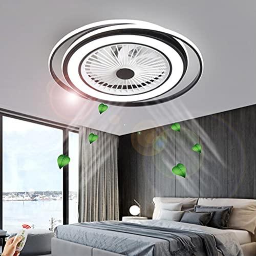 Ventilador techo LED invisible Luz Ventilador moderno Lámpara techo control remoto Regulable Velocidad del viento ajustable silencioso Habitación los niños Sala estar Dormitorio Iluminación