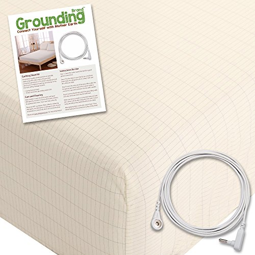Grounding Brand Extra Deep Fitted Queen Size Sheet with Earth Connection...