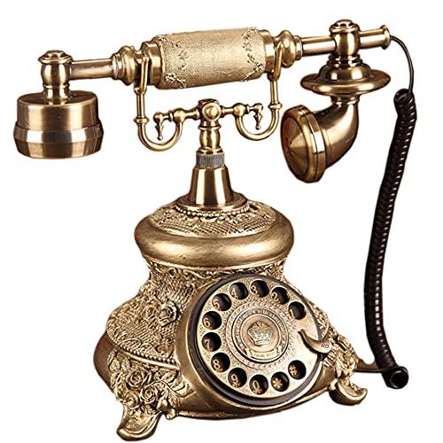 Estilo antiguo Teléfono Rotatorio Princesa Estilo Francés Viejo teléfono de moda
