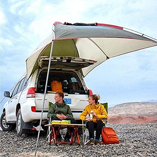 BNHHB Wasserdicht Kofferraumzelt Fahrzeugzelte,Tragbares Zelt Sun Shelter Anhänger Zelt Auto Heck Markise Pergola Dachzelt für Selbstfahrende Tour Barbecue